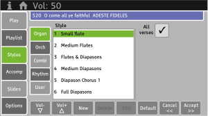 Choose from hundreds of preset musical styles